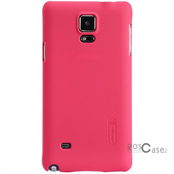 Чехол Nillkin Matte для Samsung N910H Galaxy Note 4 (+ пленка) (Розовый)Описание:Чехол изготовлен компанией&amp;nbsp;Nillkin;Спроектирован для Samsung N910H&amp;nbsp;Galaxy Note 4;Материал изготовления - пластик;Форма  -  накладка.Особенности:Имеет матовую поверхность;Исключено возникновение потертостей и образование царапин;В комплекте поставляется глянцевая бесцветная пленка;Немаркий;Не деформируется;Ультратонкий.<br><br>Тип: Чехол<br>Бренд: Nillkin<br>Материал: Поликарбонат
