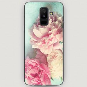 RosCase | Силиконовый чехол Пионы new на Samsung Galaxy A6 Plus (2018)
