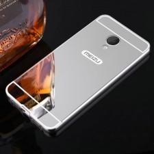 Металлический бампер для Meizu M3 / M3 mini / M3s с зеркальной вставкой