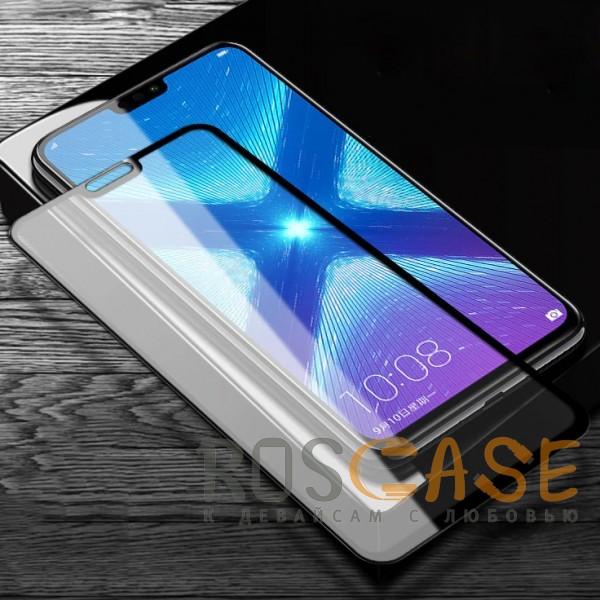 5D защитное стекло для Huawei Honor 8X на весь экран (Черное)