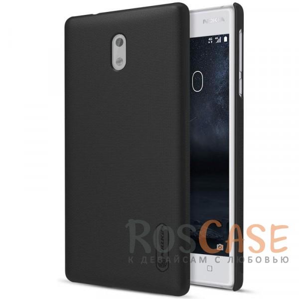 Матовый чехол Nillkin Super Frosted Shield для Nokia 3 (+ пленка) (Черный)Описание:бренд&amp;nbsp;Nillkin;совместим с Nokia 3;материал: поликарбонат;рельефная фактура;тип: накладка;в наличии все функциональные вырезы;закрывает заднюю панель и боковые грани;не скользит в руках;защищает от ударов и царапин.<br><br>Тип: Чехол<br>Бренд: Nillkin<br>Материал: Поликарбонат