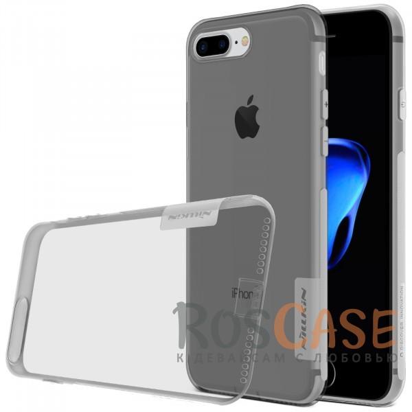 TPU чехол Nillkin Nature Series для Apple iPhone 7 plus (5.5) (Серый (прозрачный))Описание:бренд&amp;nbsp;Nillkin;совместимость - Apple iPhone 7 plus (5.5);материал  -  термополиуретан;тип  -  накладка.&amp;nbsp;Особенности:в наличии все вырезы;не скользит в руках;тонкий дизайн;защита от ударов и царапин;прозрачный;заглушка на отверстие для зарядки.<br><br>Тип: Чехол<br>Бренд: Nillkin<br>Материал: TPU
