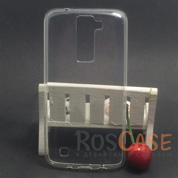 TPU чехол Ultrathin Series 0,33mm для LG K8 K350EОписание:бренд:&amp;nbsp;Epik;совместим с LG K8 K350E;материал: термополиуретан;тип: накладка.&amp;nbsp;Особенности:ультратонкий дизайн - 0,33 мм;прозрачный;эластичный и гибкий;надежно фиксируется;все функциональные вырезы в наличии.<br><br>Тип: Чехол<br>Бренд: Epik<br>Материал: TPU