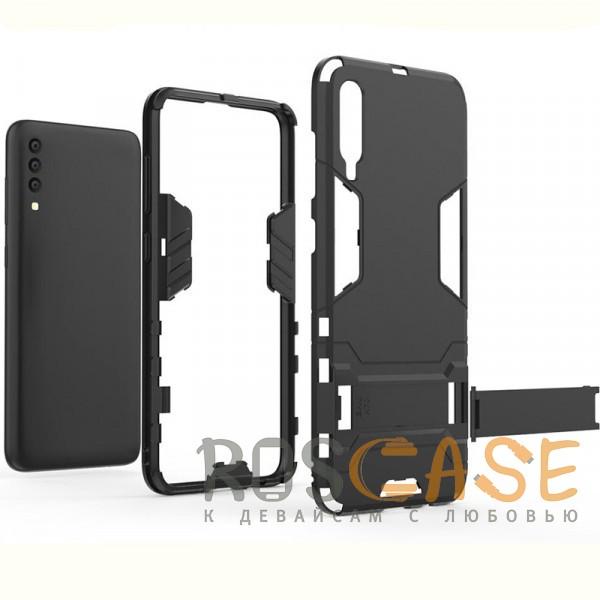 Изображение Черный / Soul Black Transformer | Противоударный чехол для Samsung A705F Galaxy A70 с мощной защитой корпуса