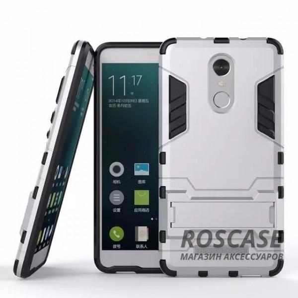 Ударопрочный чехол-подставка Transformer для Xiaomi Redmi Note 3/Note 3 Pro с мощной защитой корпуса (Серебряный / Satin Silver)Описание:материалы  -  поликарбонат, термополиуретан;совместим с Xiaomi Redmi Note 3 / PRO;форм-фактор  -  накладка.Особенности:ударопрочный;антискольжение;легкая фиксация;не деформируется;морозостойкий.<br><br>Тип: Чехол<br>Бренд: Epik<br>Материал: TPU