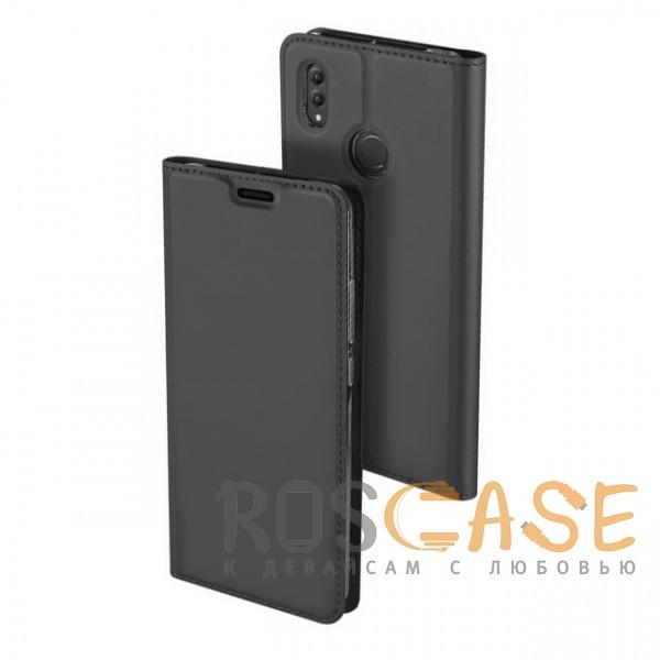 Фото Серый Dux Ducis | Чехол-книжка для Huawei Honor Note 10 с функцией подставки и картхолдером