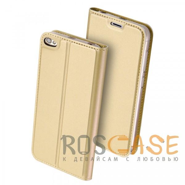 Фотография Золотой Dux Ducis | Чехол-книжка для Xiaomi Redmi Note 5A / Redmi Y1 Lite с подставкой и карманом для визиток