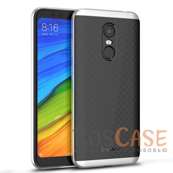 Двухкомпонентный чехол iPaky (original) Hybrid со вставкой цвета металлик для Xiaomi Redmi 5 Plus (Черный / Серебряный)Описание:совместимость - Xiaomi Redmi 5 Plus;материал - поликарбонат, термополиуретан;тип - накладка;прочная структура из двух элементов;на чехле не заметны отпечатки пальцев;предусмотрены все функциональные вырезы.<br><br>Тип: Чехол<br>Бренд: iPaky<br>Материал: Поликарбонат