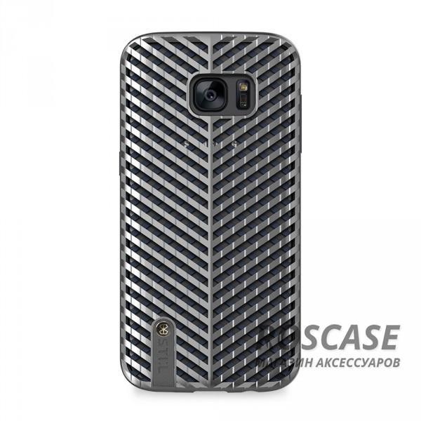 Эксклюзивный защитный чехол STIL Kaiser с объемным дизайном и металлизированным покрытием для Samsung G935F Galaxy S7 Edge (Серебряный)Описание:создан компанией&amp;nbsp;STIL;разработан с учетом особенностей Samsung G935F Galaxy S7 Edge;материалы - поликарбонат, термополиуретан;тип - накладка.Особенности:сетчатая фактура;доступ ко всем функциям гаджета благодаря точным вырезам;защита от царапин и ударов;защита экрана благодаря выступающим бортикам;уникальный дизайн.<br><br>Тип: Чехол<br>Бренд: Stil<br>Материал: TPU