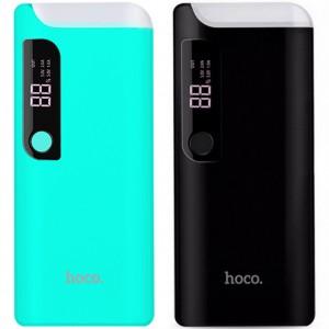 Hoco B27 | Компактное портативное зарядное устройство Power Bank с фонариком и экраном (15000 mAh)