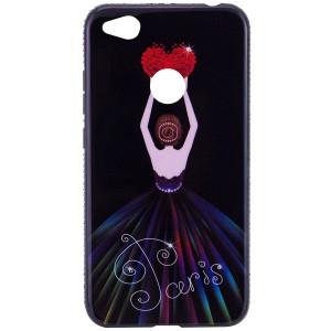 Magic Girl | Глянцевый чехол с элегантным принтом и стразами для Xiaomi Redmi 4X