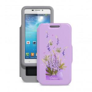 "Gresso ""Признание Люпин"" |  женский чехол-книжка с принтом цветка для Huawei G Play Mini"