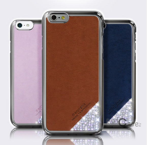"фото кожаная накладка со стразами Dreamplus Slip-on Series для Apple iPhone 6/6s (4.7"")"