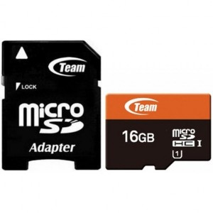 Team | Карта памяти microSDHC 16 GB Card Class 10 + SD adapter для Samsung Galaxy S6 Edge (G925F)