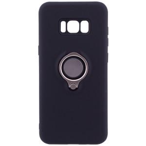 Deen   Матовый чехол для Samsung G955 Galaxy S8 Plus с креплением под магнитный держатель и кольцом-подставкой