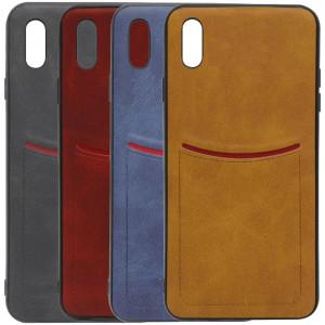 iLEVEL | Чехол с кожаным покрытием и карманом  для iPhone XR