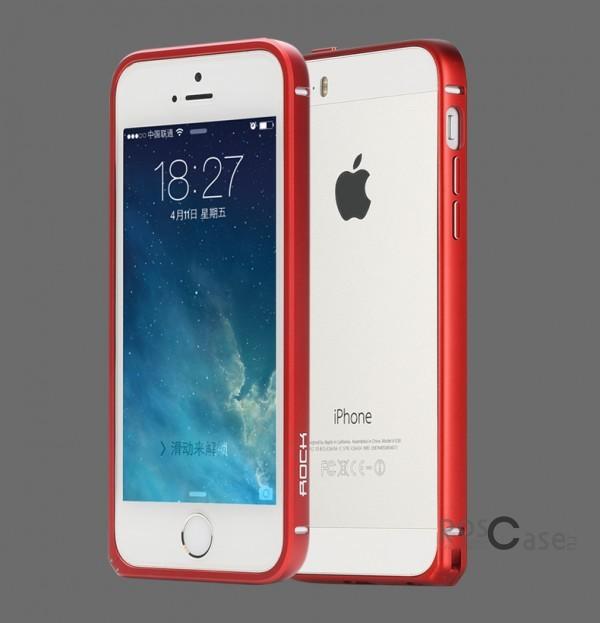 Металлический бампер Rock Arc Slim Guard для Apple iPhone 5/5S/SE (Красный / Red)Описание:производитель  -  Rock;совместим с Apple iPhone 5/5S/5SE;материал  -  металл;тип  -  бампер.&amp;nbsp;Особенности:вырезы соответствуют функциям гаджета;ударопрочный;легко крепится;не блокирует беспроводной сигнал;защита при падениях.<br><br>Тип: Бампер<br>Бренд: ROCK