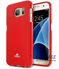 фотография Красный TPU чехол Mercury Jelly Color series для Samsung G930F Galaxy S7