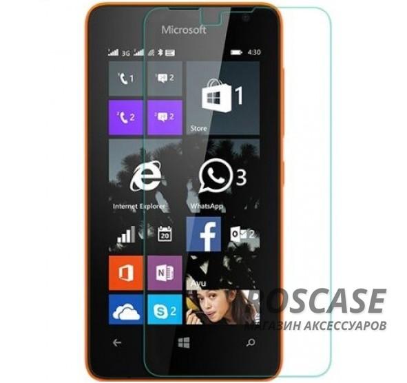 Защитное стекло Ultra Tempered Glass 0.33mm (H+) для Microsoft Lumia 430 (картонная упаковка)Описание:совместимо с устройством Microsoft Lumia 430;материал: закаленное стекло;тип: защитное стекло на экран.&amp;nbsp;Особенности:закругленные&amp;nbsp;грани стекла обеспечивают лучшую фиксацию на экране;стекло очень тонкое - 0,33 мм;отзыв сенсорных кнопок сохраняется;стекло не искажает картинку, так как абсолютно прозрачное;выдерживает удары и защищает от царапин;размеры и вырезы стекла соответствуют особенностям дисплея.<br><br>Тип: Защитное стекло<br>Бренд: Epik