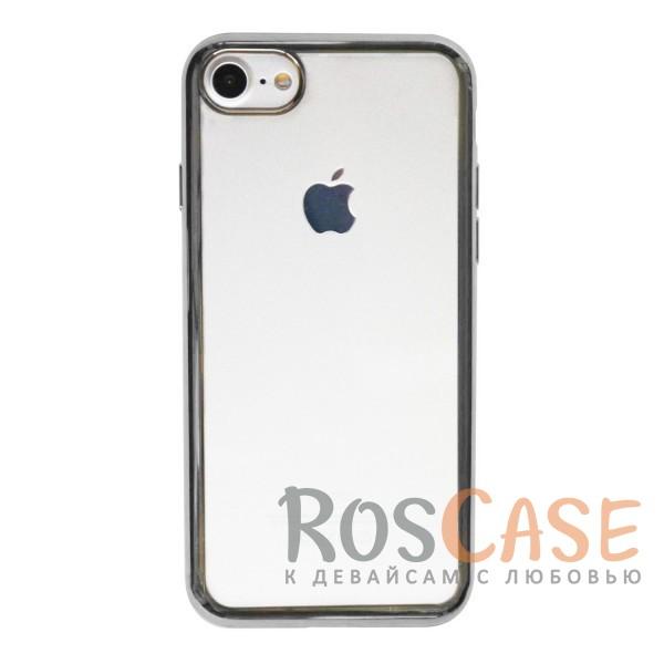 """Фото Серый Силиконовый чехол для Apple iPhone 7 / 8 (4.7"""") с глянцевой окантовкой"""
