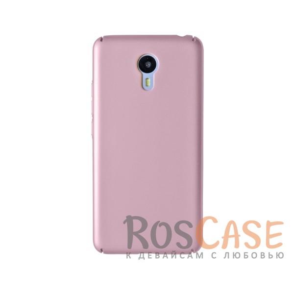 Пластиковая накладка soft-touch с защитой торцов Joyroom для Meizu M3 Note (Розовый)<br><br>Тип: Чехол<br>Бренд: Epik<br>Материал: Пластик