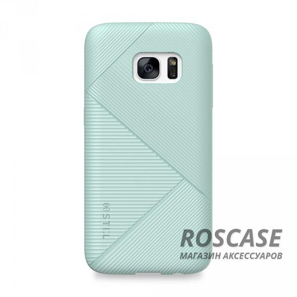 TPU чехол STIL Stone Edge Series для Samsung G930F Galaxy S7 (Бирюзовый)Описание:создан компанией&amp;nbsp;STIL;разработан для&amp;nbsp;Samsung G930F Galaxy S7;материал - термополиуретан;тип - накладка.Особенности:рельефная фактура;доступ ко всем функциям гаджета благодаря точным вырезам;защита от царапин и ударов;фактурные грани накладки для лучшего сцепления;размеры - 147*75*10&amp;nbsp;мм.<br><br>Тип: Чехол<br>Бренд: Stil<br>Материал: TPU