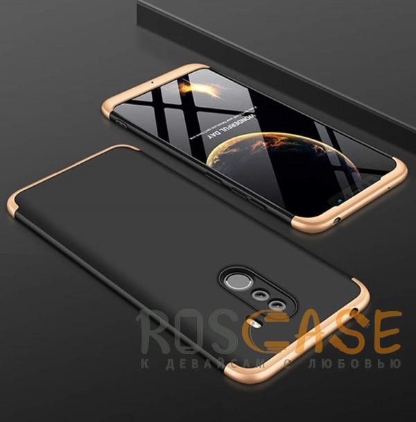 Фотография Черный / Золотой GKK LikGus 360° | Двухсторонний чехол для Xiaomi Pocophone F1 с защитными вставками