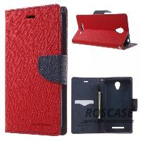 фото Красный / Синий Чехол (книжка) Mercury Fancy Diary series для Xiaomi Redmi Note 2 / Redmi Note 2 Prime