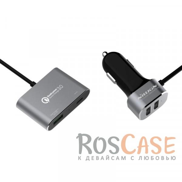 АЗУ Nillkin PowerShare Car Charger (Серый)Описание:производитель&amp;nbsp; -  Nillkinтип&amp;nbsp; -  автомобильное зарядное устройство с переходником;совместимость - универсальная;ток на входе -&amp;nbsp;12V-18V, ток на выходе -&amp;nbsp;3.6V-6.5V3A &amp;nbsp;6.5V-9V2A &amp;nbsp;9V-12V1.5A (Max) &amp;nbsp;5V2.4A*2 +5V3A;длина провода - 2 метра;разъем - Type-C, 3 порта USB;общая мощность - 57 Вт;режим быстрой зарядки.<br><br>Тип: Автозарядка<br>Бренд: Nillkin