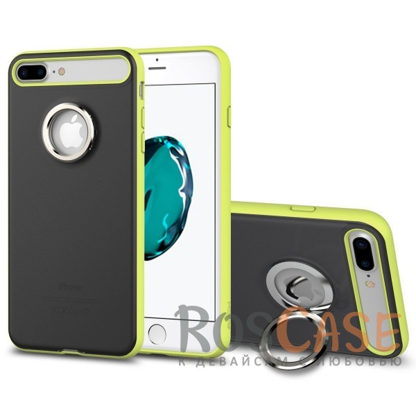 TPU+PC чехол Rock Ring Holder Case M2 Series для Apple iPhone 7 plus (5.5) (Зеленый / Green)Описание:произведен компанией&amp;nbsp;Rock;разработан для Apple iPhone 7 plus (5.5);материалы: термополиуретан и поликарбонат;тип: накладка.<br><br>Тип: Чехол<br>Бренд: ROCK<br>Материал: TPU