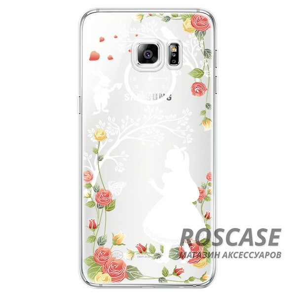 Тонкий силиконовый чехол с принтом Алиса в стране чудес для Samsung Galaxy S6 Edge PlusОписание:совместимость  -  смартфон Samsung Galaxy S6 Edge Plus;материал  -  силикон;форм-фактор  -  накладка.Особенности:запоминающийся дизайн;обладает высоким уровнем прочности и износостойкости;не теряет гибкость и эластичность;не подвергается деформации;не скользит в руках.<br><br>Тип: Чехол<br>Бренд: Epik<br>Материал: TPU