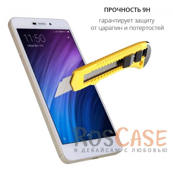 Фотография Прозрачное защитное стекло с олеофобным покрытием для Xiaomi Redmi 4a