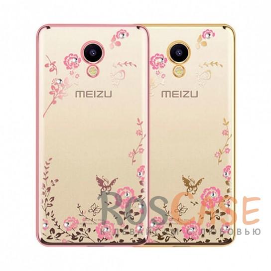 Прозрачный чехол с цветами и стразами для Meizu M5s с глянцевым бамперомОписание:совместимость - Meizu M5s;глянцевая окантовка, цветочный узор;материал - TPU;тип - накладка;защита от царапин, трещин, ударов;легко устанавливается;не скользит в руках;не заметны отпечатки пальцев;все необходимые функциональные вырезы.<br><br>Тип: Чехол<br>Бренд: Epik<br>Материал: Силикон