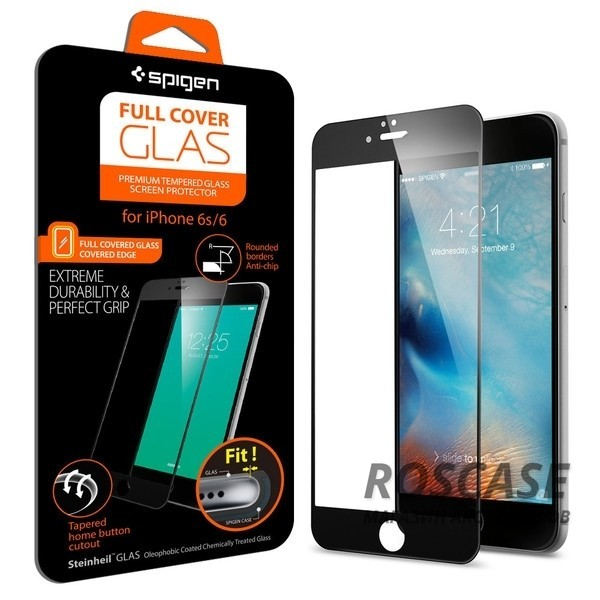 фотография Черный / Black / SGP11589 SGP Screen Protector Full Cover Glass Series для Apple iPhone 6/6s (4.7