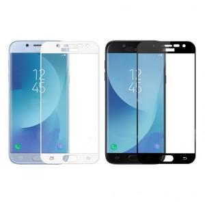 Защитное стекло с цветной рамкой на весь экран для Samsung J730 Galaxy J7 (2017)