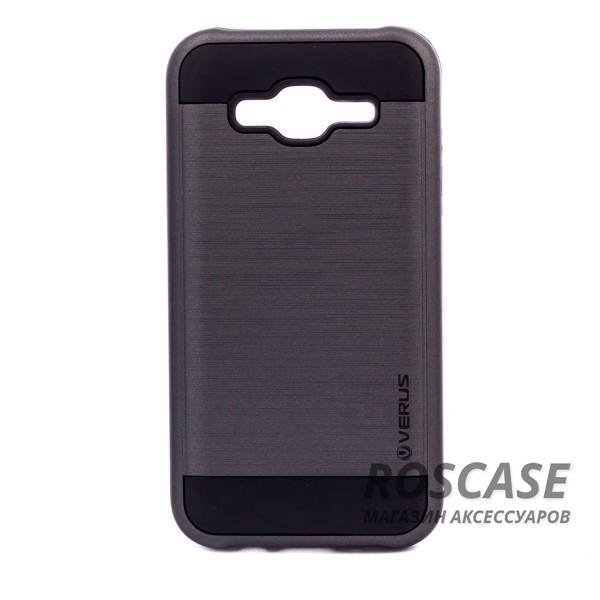 Двухслойный ударопрочный чехол с защитными бортами экрана Verge для Samsung J500H Galaxy J5 (Черный)Описание:совместимость  -  смартфон Samsung J500H Galaxy J5;материал для изготовления  -  поликарбонат, термопластичный полиуретан;тип изделия  -  чехол-накладка.Особенности:надежно фиксируется и трансформируется в подставку;имеет покрытие против пятен и отпечатков пальцев;не деформируется;имеет все функциональные вырезы;просто чистится от загрязнений.&amp;nbsp;<br><br>Тип: Чехол<br>Бренд: Epik<br>Материал: Пластик