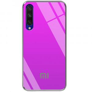 TPU+Glass чехол Gradient Rainbow с лого для Xiaomi Mi CC9 / Mi 9 Lite