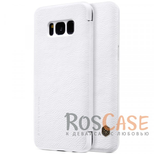 Чехол-книжка из натуральной кожи для Samsung G950 Galaxy S8 (Белый)Описание:бренд&amp;nbsp;Nillkin;разработан для Samsung G950 Galaxy S8;материалы: натуральная кожа, поликарбонат;защищает гаджет со всех сторон;на аксессуаре не заметны отпечатки пальцев;карман для визиток и пластиковых карт;предусмотрены все необходимые функциональные вырезы;тонкий дизайн не увеличивает габариты девайса;тип: чехол-книжка.<br><br>Тип: Чехол<br>Бренд: Nillkin<br>Материал: Натуральная кожа