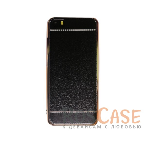 TPU чехол Genuine Leather and Steel Series для Xiaomi MI5 / MI5 Pro (Черный)<br><br>Тип: Чехол<br>Бренд: Epik<br>Материал: TPU