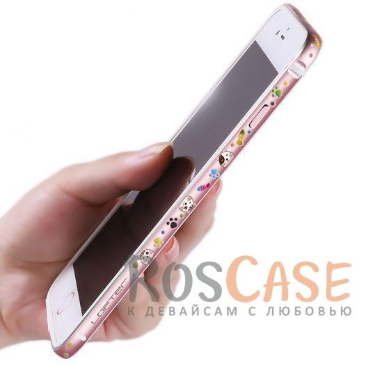 Женский металлический бампер с рисунком милых зверушек Lofter Cutie для Apple iPhone 7 plus / 8 plus (5.5) (Котик)<br><br>Тип: Чехол<br>Бренд: Epik<br>Материал: Металл
