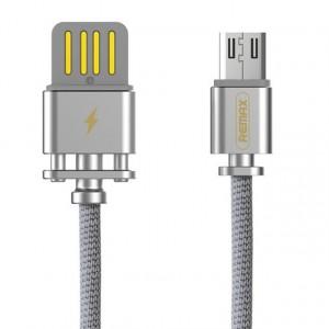 Remax RC-064a | Дата кабель в тканевой оплетке и металлическим разъёмом USB to MicroUSB (100см) для Samsung Galaxy S8 (G950)