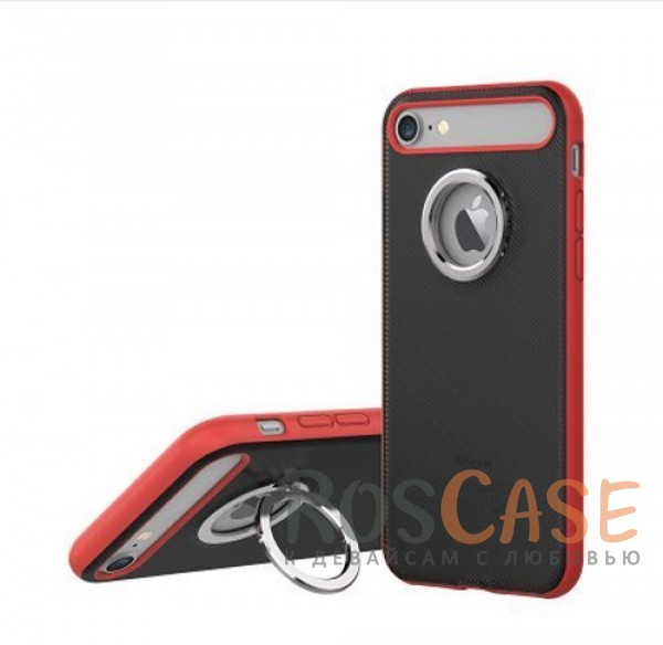 TPU+PC чехол Rock Ring Holder Case M2 Series для Apple iPhone 7 (4.7) (Красный / Red)Описание:произведен компанией&amp;nbsp;Rock;разработан для Apple iPhone 7 (4.7);материалы: термополиуретан и поликарбонат;тип: накладка.<br><br>Тип: Чехол<br>Бренд: ROCK<br>Материал: TPU