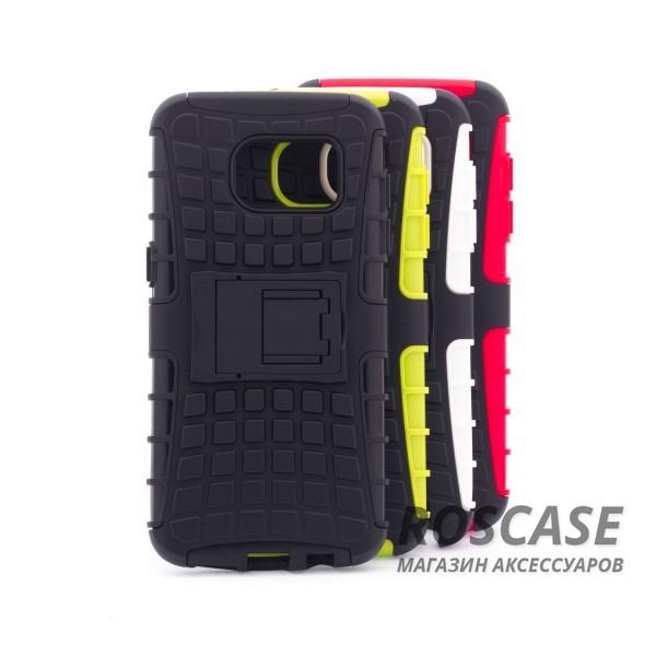Противоударный двухслойный чехол Shield для Samsung G935F Galaxy S7 Edge с подставкойОписание:разработан специально для Samsung G935F Galaxy S7 Edge;материалы: поликарбонат, термополиуретан;тип: накладка.&amp;nbsp;Особенности:двухслойный;ударопрочный;оригинальный дизайн;стильный дизайн;в наличии все функциональные вырезы;функция подставки.<br><br>Тип: Чехол<br>Бренд: Epik<br>Материал: TPU