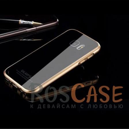 Металлический бампер Luphie с акриловой вставкой для Samsung G930F Galaxy S7 (Золотой / Черный)Описание:бренд -&amp;nbsp;Luphie;материал - алюминий, акриловое стекло;совместим с Samsung G930F Galaxy S7;тип - бампер со вставкой.Особенности:акриловая вставка;прочный алюминиевый бампер;в наличии все вырезы;ультратонкий дизайн;защита устройства от ударов и царапин.<br><br>Тип: Чехол<br>Бренд: Luphie<br>Материал: Металл