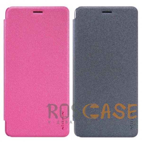 Nillkin Sparkle | Чехол-книжка с функцией Sleep Mode для OnePlus 3 / OnePlus 3TОписание:компания -&amp;nbsp;Nillkin;разработан для OnePlus 3 / OnePlus 3T;материалы  -  синтетическая кожа, поликарбонат;форма  -  чехол-книжка.&amp;nbsp;Особенности:защищает со всех сторон;имеет все необходимые вырезы;легко чистится;функция Sleep mode;не увеличивает габариты;защищает от ударов и царапин;блестящая поверхность.<br><br>Тип: Чехол<br>Бренд: Nillkin<br>Материал: Искусственная кожа