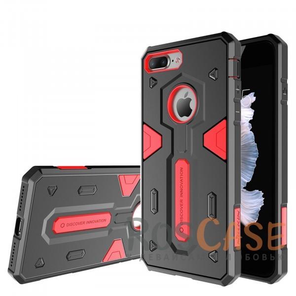 TPU+PC чехол Nillkin Defender 2 для Apple iPhone 7 plus (5.5) (Красный)Описание:производитель  - &amp;nbsp;Nillkin;совместим с Apple iPhone 7 plus (5.5);материал  -  термополиуретан, поликарбонат;тип  -  накладка.&amp;nbsp;Особенности:в наличии все вырезы;противоударный;стильный дизайн;надежно фиксируется;защита от повреждений.<br><br>Тип: Чехол<br>Бренд: Nillkin<br>Материал: TPU
