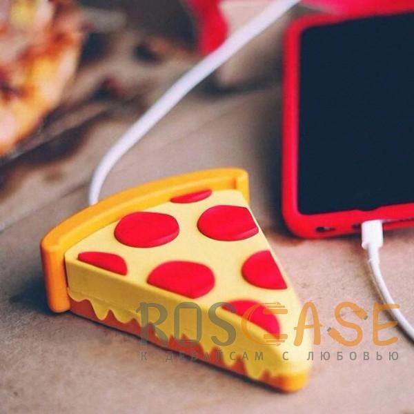 Фотография Пицца Emoji   Портативное зарядное устройство Power Bank с матовым покрытием 5000mAh (1 USB 1A)
