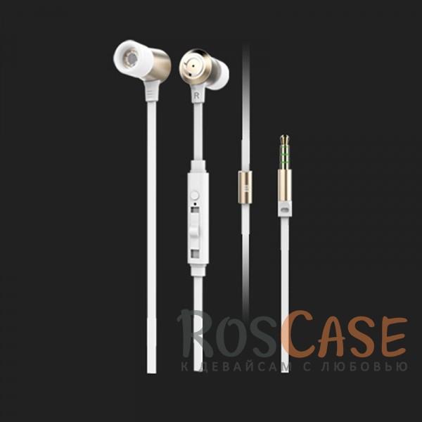 Наушники ROCK Mula S stereo (Золотой / Gold)Описание:производитель  - &amp;nbsp;Rock;материалы - TPE, алюминий, силикон;разъем  -  3,5 mini jack;тип  -  наушники.<br><br>Тип: Наушники/Гарнитуры<br>Бренд: ROCK