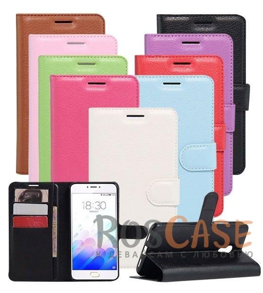 Кожаный чехол (книжка) Wallet с визитницей для Meizu M3 NoteОписание:разработан для Meizu M3 Note;материалы  -  искусственная кожа, термополиуретан;форма  -  чехол-книжка.&amp;nbsp;Особенности:гладкая поверхность;предусмотрены все функциональные вырезы;кармашки для визиток/кредитных карт/купюр;магнитная застежка;защита от механических повреждений;трансформируется в подставку.<br><br>Тип: Чехол<br>Бренд: Epik<br>Материал: Искусственная кожа