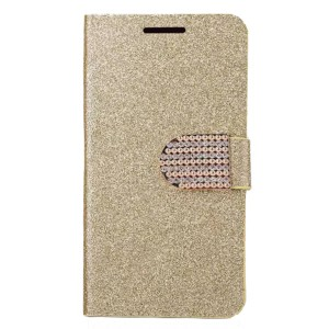 Сияющий кожаный чехол-книжка со стразами  для LG V30 Plus H930G